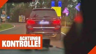 Wilde Verfolgungsjagd! Geklauter Mercedes will Polizei abhängen! 1/2   Achtung Kontrolle