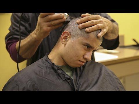 How United States Marines Haircuts Look Like  - US Marine Recruits Recive New Marine Haircut