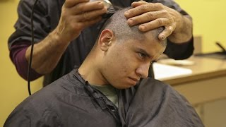 How United States Marines Haircuts Look Like  - US Marine Recruits Recive New Marine Haircut