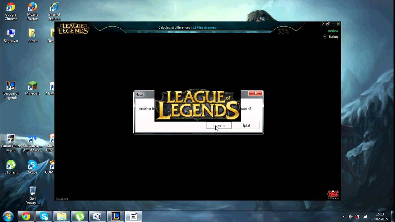 how many files scanned league of legends