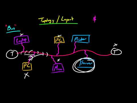 Computer Networking Tutorial - 12 - Bus Topology