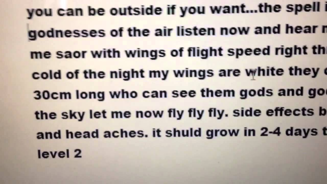 How to grow wings