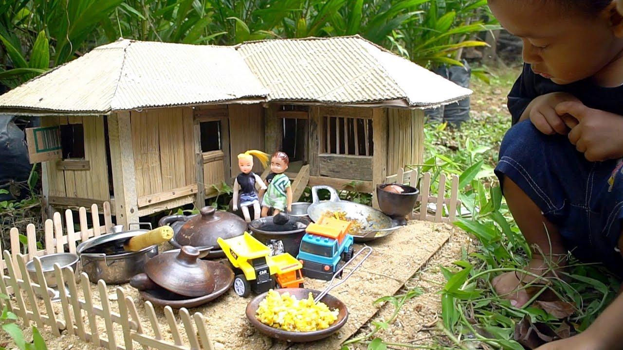 Download Miniatur Rumah Rumahan dari Bambu | Mainan Anak Rumah Rumahan