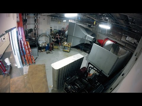 Stanford wind tunnel construction time-lapse