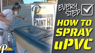 uPVC Door Spraying | How to Spray PVC