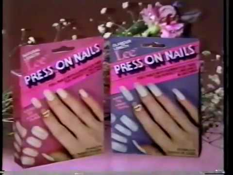 Lee Press On Nails Ad 1 1986