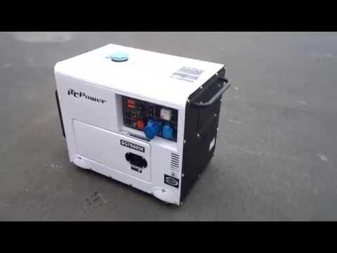 DG7500SE GROUPE ELECTROGENE DIESEL INSONORISE 6.5KW ITC POWER