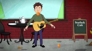 TROP TARD (A quoi il sert le bouton rouge ?) - Chanson + un clip style cartoon