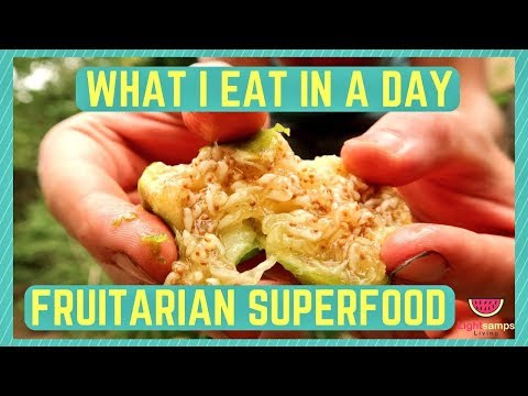 WHAT I EAT IN A DAY: FULLY RAW FRUITARIAN + SUPERFOODS