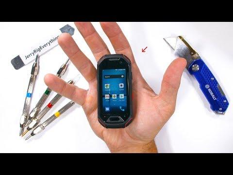 Worlds SMALLEST Rugged Smartphone - Durability Test!