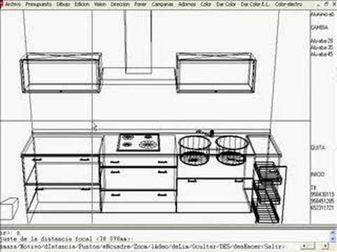 3d cocinas parte 2 youtube for Planos de cocina en 3d