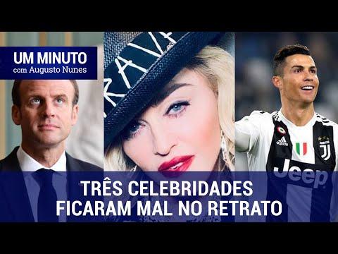 Augusto Nunes: Macron, Cristiano Ronaldo e Madonna ficaram mal ao falar da Amazônia