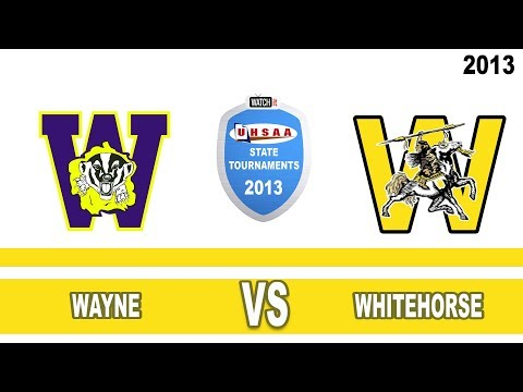 C#2 Match #21 ---  2013 State 1A Volleyball Tournament: Wayne vs Whitehorse High School