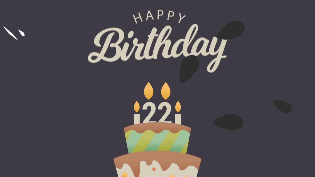 Birthday Motion Graphic Video Sample