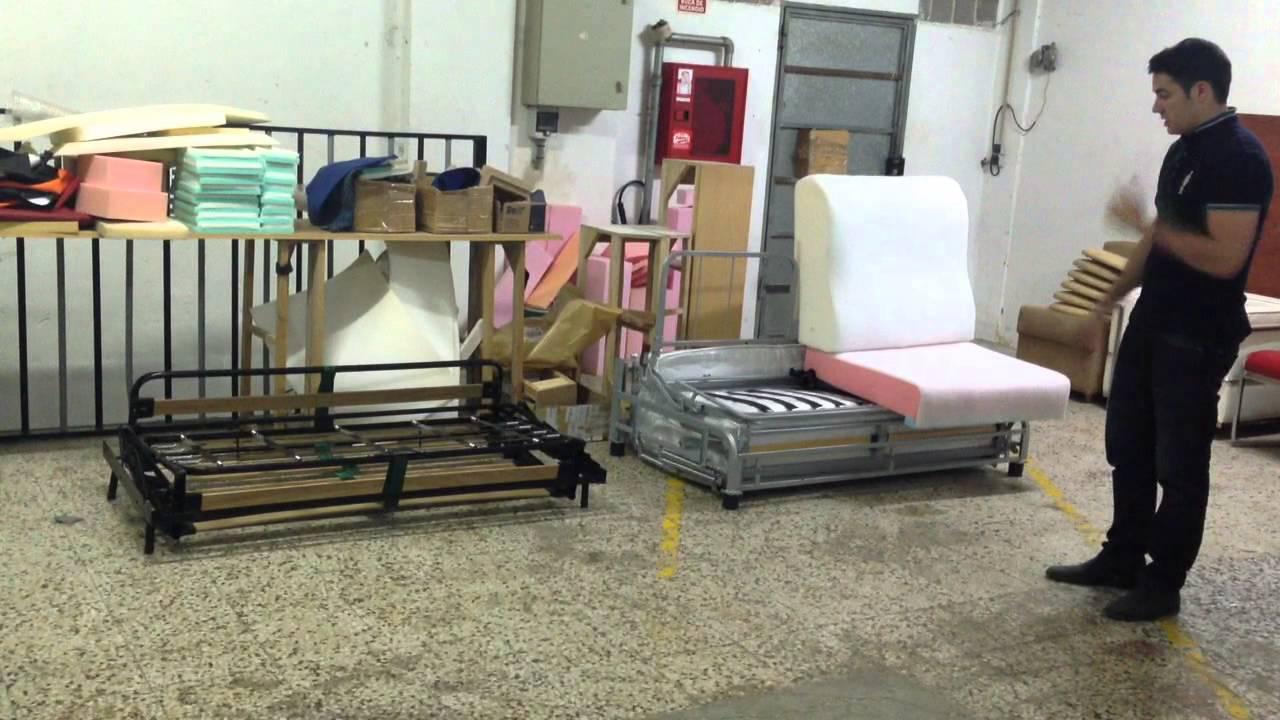 Como es el interior del sofa cama sistema italiano youtube for Sofa cama sistema italiano barato