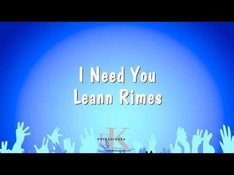 I Need You - Leann Rimes (Karaoke Version)