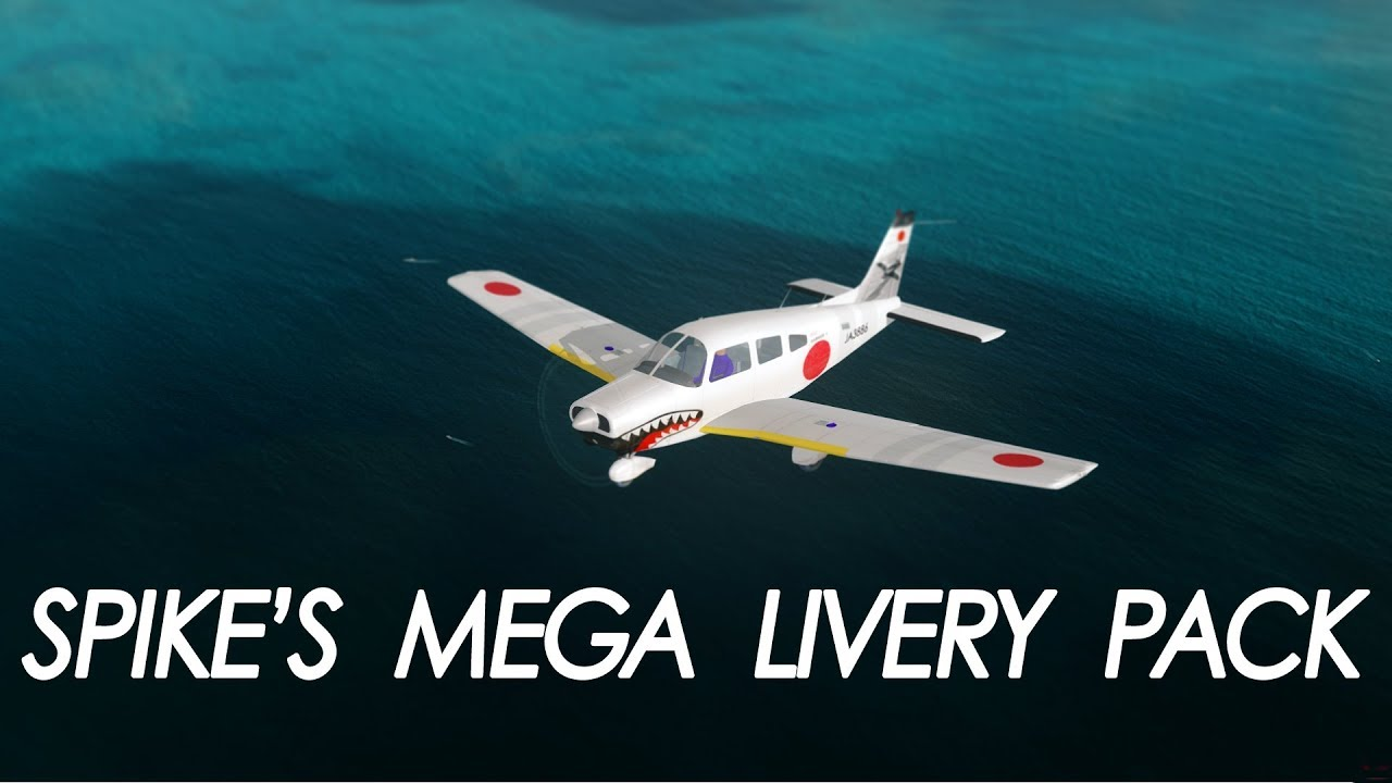 simMarket: SPIKE PRODUCTIONS - PIPER WARRIOR PA-28 MEGA LIVERY PACK