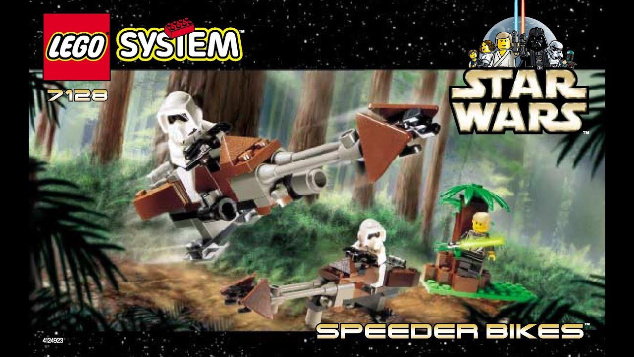 Lego Instructions Star Wars Speeder Bikes Set 7128 1999 Youtube