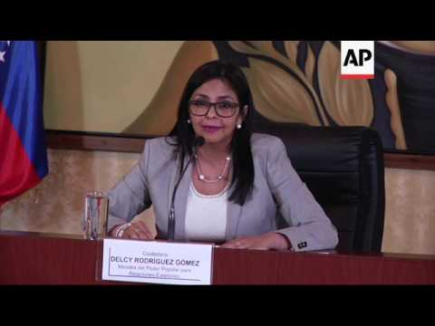Venezuela's FM denounces US sanctions on VP