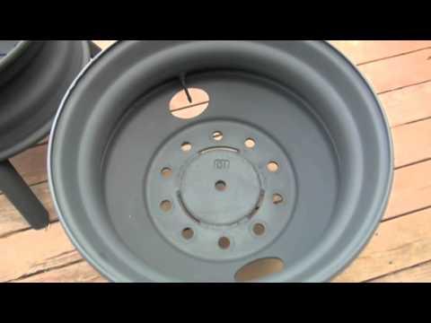 semi truck wheel fire pit