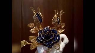 Синяя роза в холоте