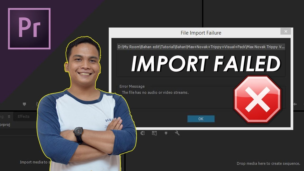 Solution File format not supported for Adobe Premiere Pro or any other  Software