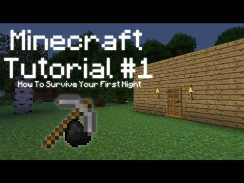 видео: Minecraft Туториал №1 - Как пережить первую ночь