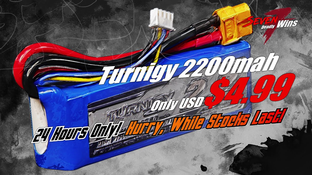 $4 99 Turnigy 2200mah 3s - Day 6 - HobbyKing Seven Deadly Wins Sale