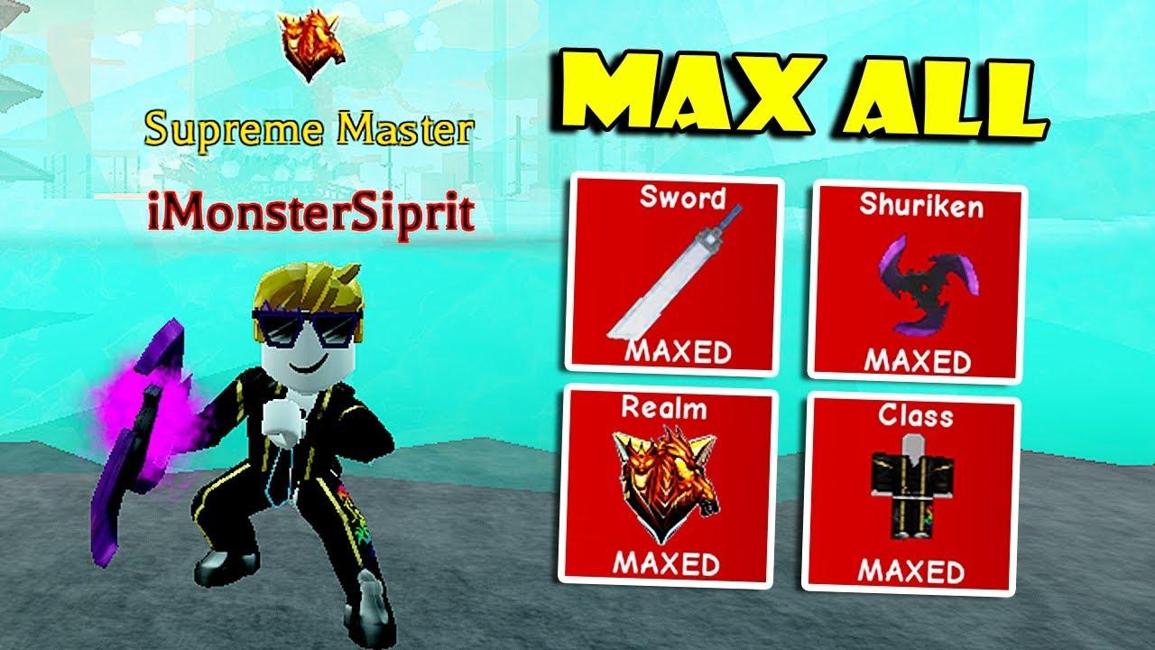 Op Swords Roblox Getting Max All Ranks Class Shuriken Best Swords In Op Ninja Simulator Roblox Youtube