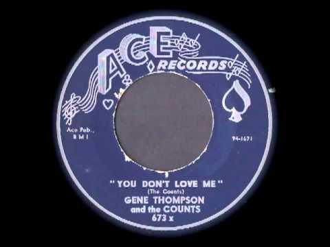 Gene Thompson and the Counts - You Don't Love Me