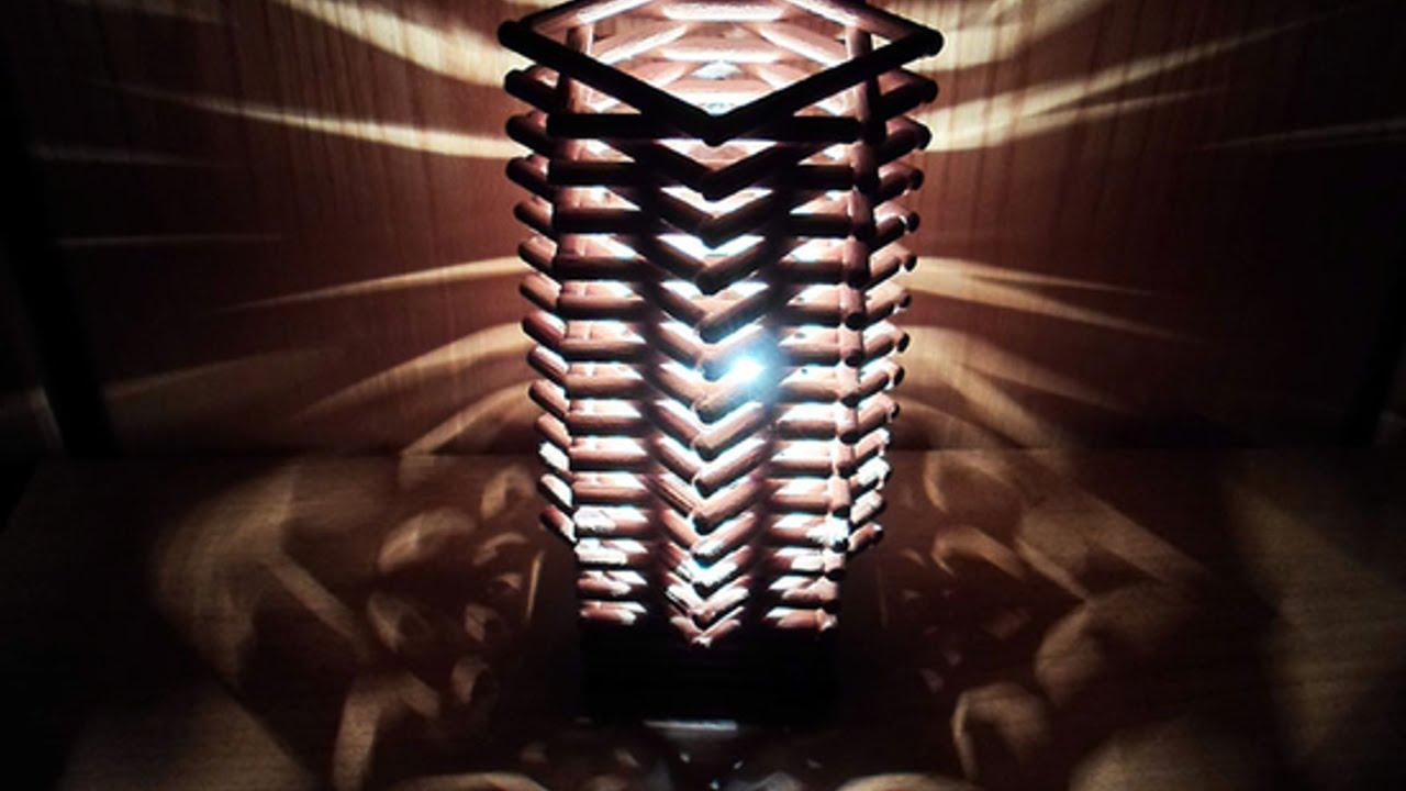 Crea Una Lampada Geometrica Con Delle Spinette Di Legno Fai Da Te