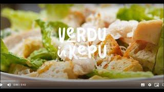 Tikras Cezaris: salotos ir padažas | VERDU IR KEPU | 2021