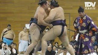 阿南市で初の大相撲巡業