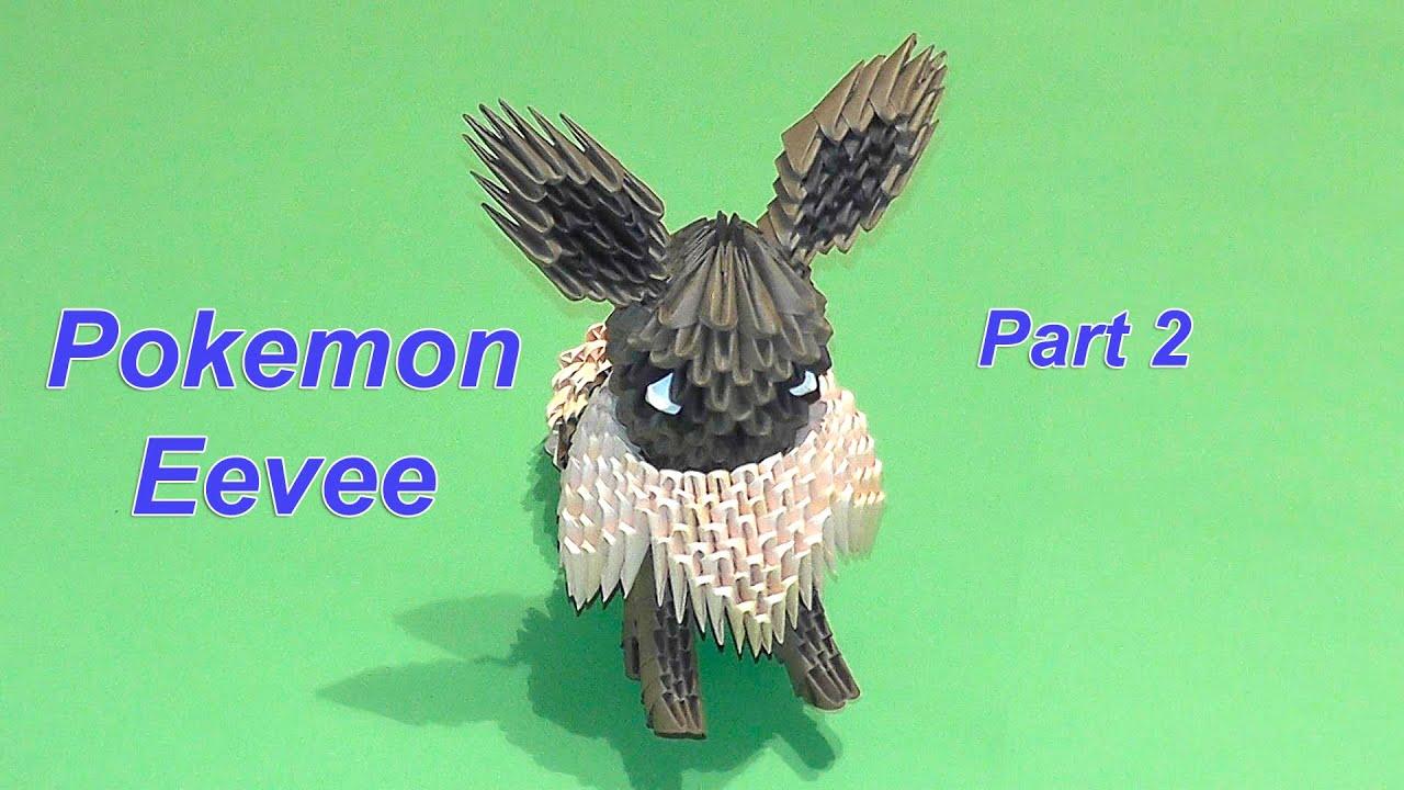 3d origami pokemon eevee tutorial part 2 youtube jeuxipadfo Images