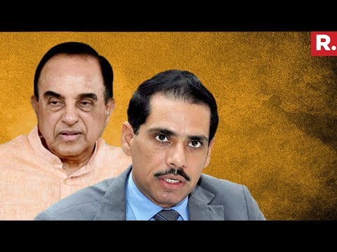 'Robert Vadra Has No Option But To Pay', Says Dr. Subramanian Swamy