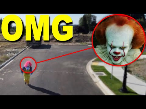 My DRONE caught PENNYWISE on camera!! (PENNYWISE SIGHTING CAUGHT ON DRONE!) |