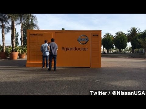 Giant Amazon Locker In San Francisco Holds Nissan Rogue