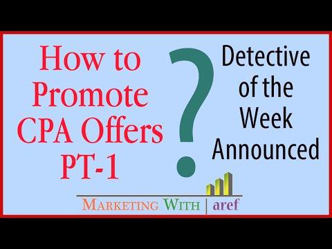 How to Promote Email/Zip Submit CPA Offer - PT-1 Marketing with aref