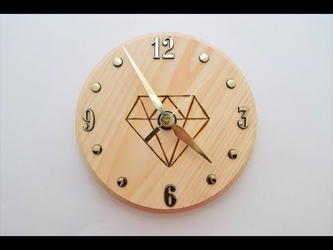 Making Wooden Clock With Pencils Holder Woodworking Project