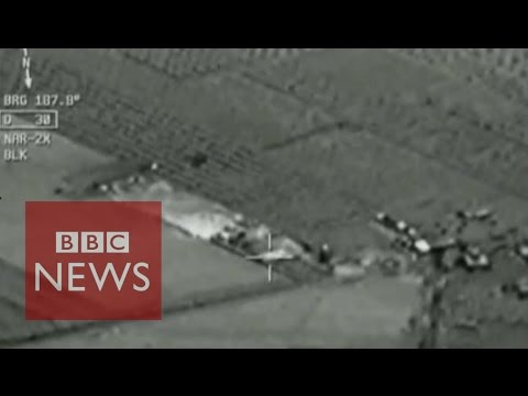 Cockpit footage shows Turkish airstrikes - BBC News