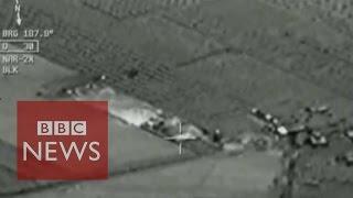 Cockpit footage shows Turkish airstrikes - BBC News