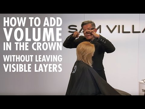 How to add volume in the crown without any visible layering