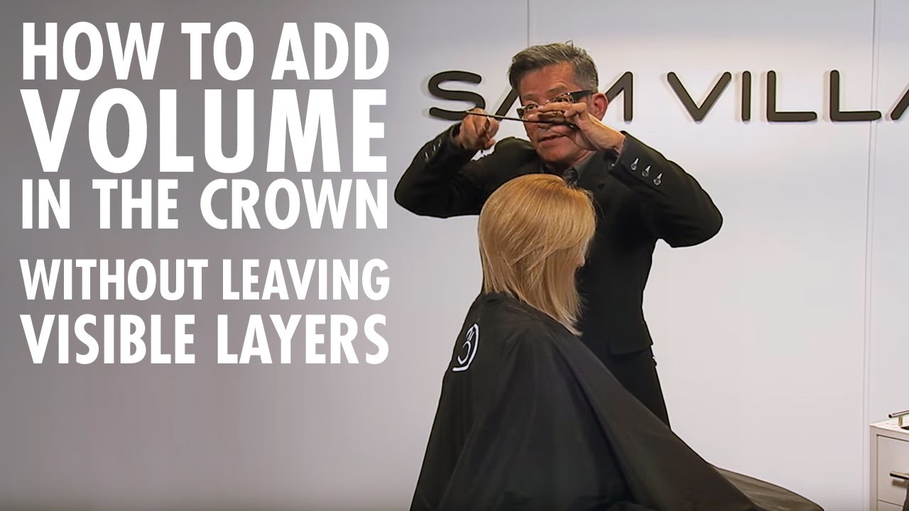 How to add volume in the crown without any visible