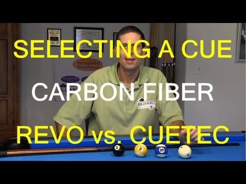 How To Select A Pool Cue, Cue Ball Deflection, Carbon Fiber, Revo Vs. Cuetec