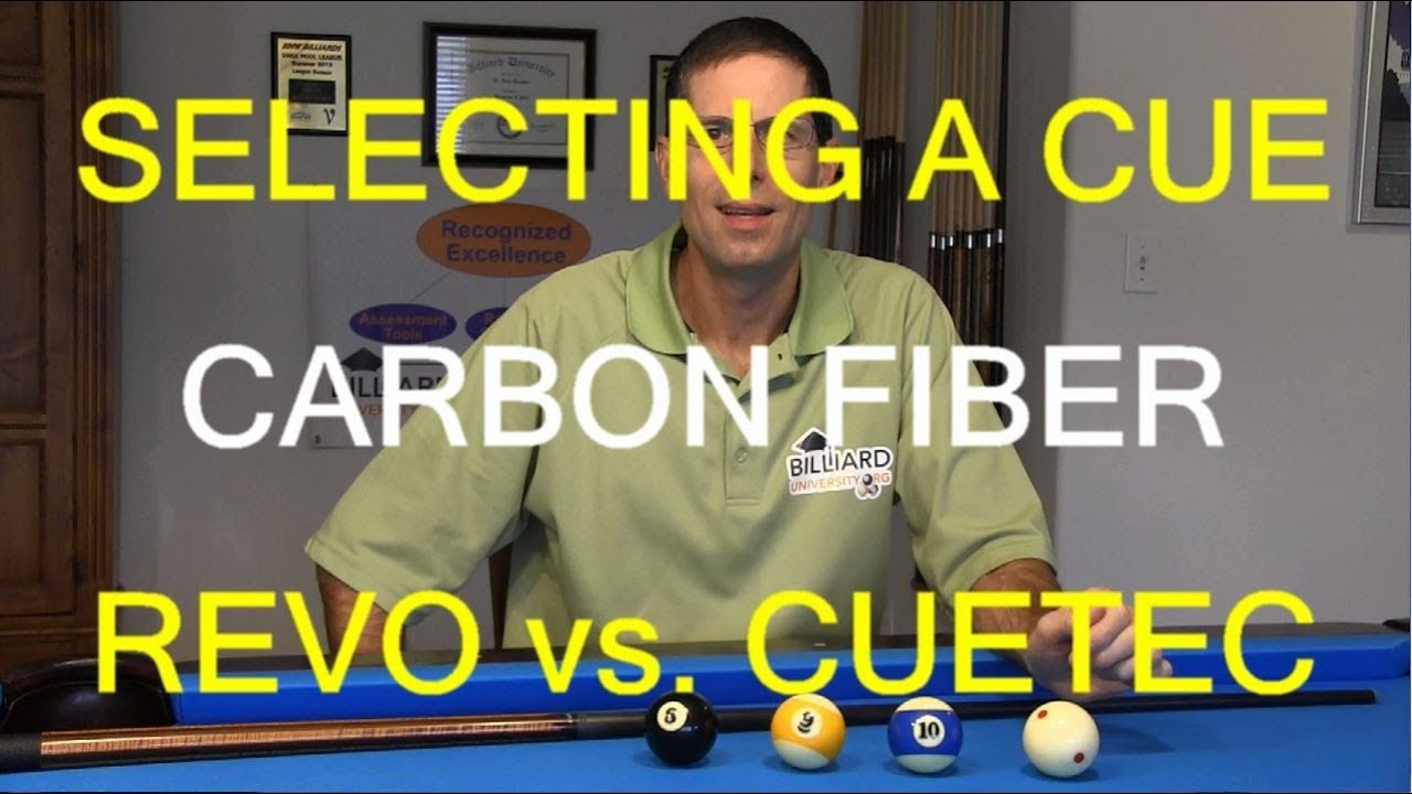 How to Select a Pool Cue, Cue Ball Deflection, Carbon Fiber, Revo vs  Cuetec