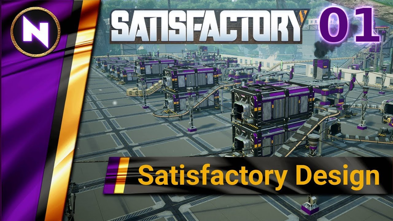 Satisfactory Design #1 BUILDING A STARTER BASE