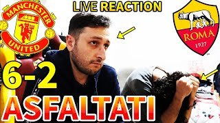 😭 ASFALTATI... MANCHESTER UNITED-ROMA 6-2 [LIVE REACTION]