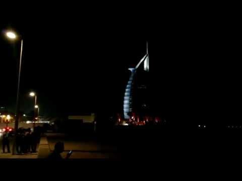 Mi viaje a Dubai (EUA) Umm Suqeim Beach cerca de Burj Al Arab Hotel de 7 estrellas