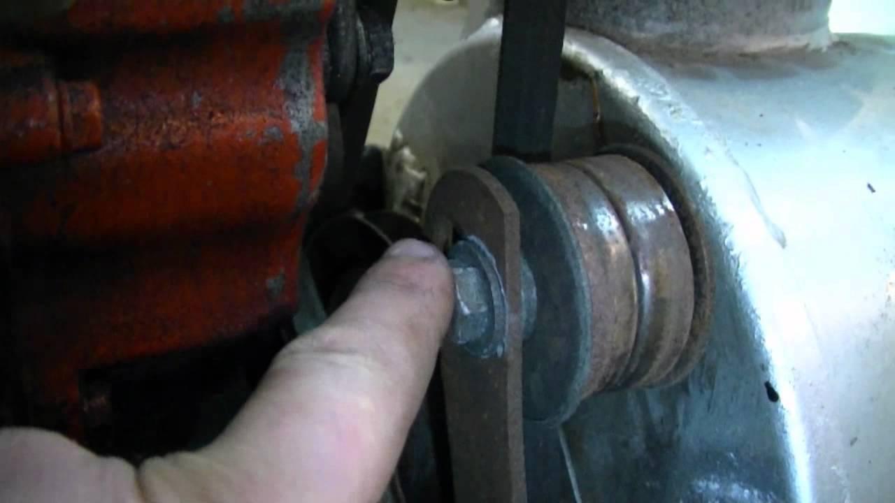 How To Adjust The Belt Idler Pulley On An Older Craftsman Snower