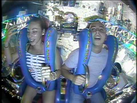guy passes out on slingshot ride
